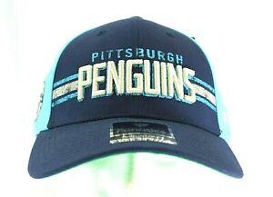 Pittsburgh Penguins NHL Blue Baseball Cap Snapback