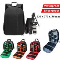 Waterproof Shockproof SLR DSLR Camera Bag Case Len Backpack For Canon Sony Nikon