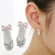 Ballerina shoe Stud earrings 8 PAIRS
