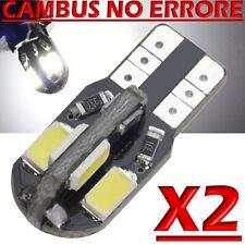 2 Led T10 Canbus 8 SMD 5730 No Errore Lampade Luci BIANCO Xenon W5 Posizione 12V