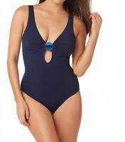 Amoressa Womens Swimwear New Moon Blue Size 14 Electra One-Piece $166 057