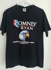 Romney Ryan T-Shirt Campaign Volunteer Bald Eagle Political Graphic Tee 2012 Med