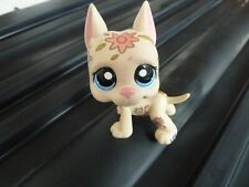 Littlest Pet Shop (LPS) ~ Great Dane Puppy Dog Tattoo Deco With Flowers