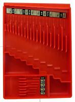 Wrench Organizer Tool Sorter Holder Rack Rail Toolbox Craftsman Snapon Red