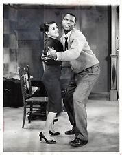 "Sidney Poitier ""A RAISIN IN THE SUN"" Ruby Dee 1959 Broadway Press Photo"