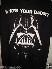STAR WARS T SHIRT SIZE L LARGE WHO'S YOUR DADDY DARTH VADER NEW NWT