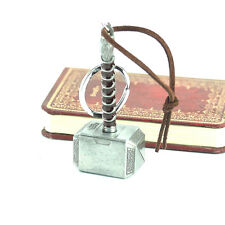 Fashion Antique-Silver Marvel Avengers Thor's Hammer Metal Keyring Keychain Gift