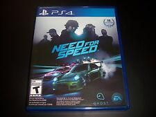 Replacement Case (NO GAME) NEED FOR SPEED PlayStation 4 PS4 100% Original Box