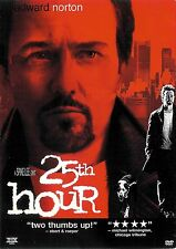 25th Hour ~ Edward Norton Philip Seymour Hoffman ~ DVD WS THX ~ FREE Shipping
