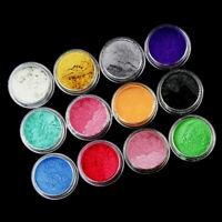 12Color Mica Pigment Powder Perfect Soap Cosmetics Resin Colorant Dye Set Makeup