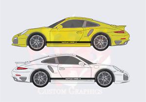 """Porsche style 911 997 991 """"PORSCHE"""" side stripe decal graphic vinyl"""