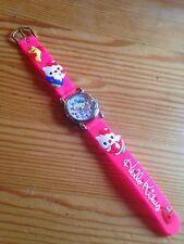 Reloj De Pulsera niños Niñas Hello Kitty Rosa Analógico De Acero Correa De Silicona Nuevo
