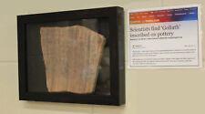 Goliath Artifact, Two Gates Inscription Museum Display