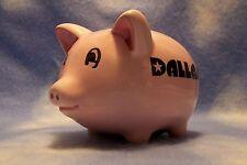 Piggy Bank Dallas Texas Oil Ceramic Pig Save Kids Coin Lone Star Vacation Money