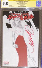 AMAZING SPIDER-MAN 23 CGC 9.8 Signed By J SCOTT CAMPBELL COMICXPOSURE SKETCH B&W