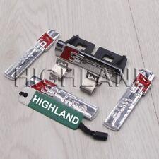 4pcs/set SLINE S LINE GRILL GRILLE REAR EMBLEM BADGE FOR AUDI A1 A2 A3 S3 A4 S4