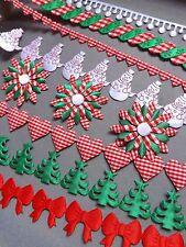 CHRISTMAS trim wrapping sewing lace xmas craft card art gift fawors ribbon diy