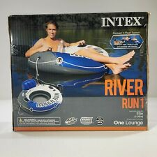 INTEX River Run 1 Lounge Inflatable Connect n Float Floating Water Tube Raft