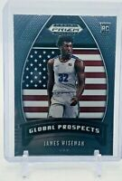 JAMES WISEMAN 2020 PANINI PRIZM GLOBAL PROSPECTS ROOKIE CARD #97 GS WARRIORS