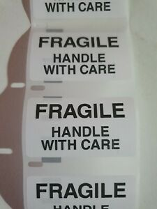 200 FRAGILE  HANDLE WITH CARE Label Postage Stickers Self adhesive Parcel Labels