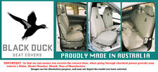 Black Duck Canvas Seat Covers to suit Nissan GU Patrol Utility 04/99+