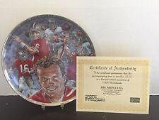 Sports Impressions - Joe Montana - Platinum Edition - Collectors Plate
