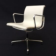 Miniature Office Chair-WHITE. 1/12 scale Miniature Mid-Century Designer Chair