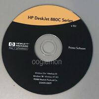 Setup CD ROM for HP Deskjet 880C Series Software for Windows  3.1x, 95, 98, NT 4