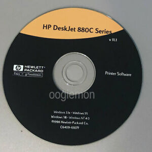 Setup CD ROM for HP Deskjet 880C Series Software for Windows  3.1x, 95, 98, NT 4
