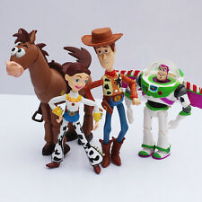 4pcs Toy Story 3 Buzz Lightyear Woody Jessie PVC Action Figures SET + Charm Toy