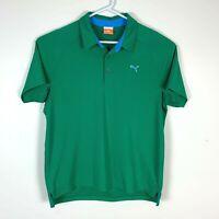 Puma Premium Green Golf Polo Shirt Size Men's Large