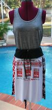 Ohio State Tie Waist Bohemian Hippie Upcycled Skirt Yoga Band NEW S/M