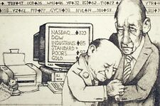 """Charles Bragg """"Day Traders"""" Hand Signed & Numbered Etching Fine Artwork"""