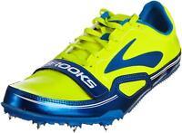 Brooks Men's PR Sprint 10.45 Track Spikes, Color: ElctrcBlu/Nghtlife/Blck/Wht
