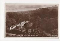 Auld Brig O Doon From Burn Monument Alloway Ayr Vintage RP Postcard 293a
