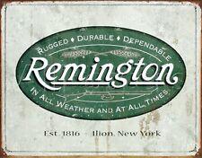 REMINGTON METAL SIGN Logo Gun NEW Hunting Rifle Shotgun Revolver Bullet Ammo