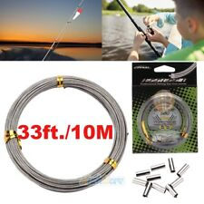 10M/33FT 150LBs Super Strong Steel Braided Sea Fishing Line Fishing Wire Puller