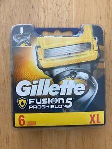 GILLETTE FUSION 5 PROSHIELD BLADES 6 PACK *BRAND NEW SEALED* 100% GENUINE