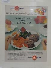 Original 1950's Vintage Advert mounted ready to frame Canada Packers foods