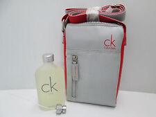 """"""" CK ONE BY CALVIN KLEIN """"  PROFUMO UOMO EDT 100ml SPRAY + BORSELLO"""