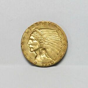 1910 $2.50 Indian Head Gold Quarter Eagle
