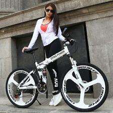 Folding Mountain Bike Carbon Steel Frame Wheel Dual Disc Brake Speed Sale Price