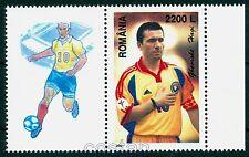 """2001 HAGI,the KING,""""Comandante"""",Famous Football player,Romania,5571,TAB/H-L2,MNH"""
