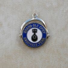 Silvertone Grand Ole Opry Nashville Tennessee Bracelet Charm Music Spinner
