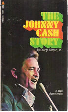 THE JOHNNY CASH STORY by George Carpozi, Jr. (1970) Pyramid pb illust photos 1st