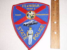 FLORIDA STATE POLICE TROOP  E MIAMI  HEADQUARTERS  florida highway patrol PATCH
