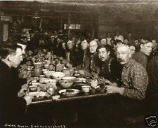 Logging Camp Mess Hall Lumberjacks Dining Enamelware Bowls Coffepots Plates 1890