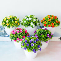 Outdoor Flower Fake False Plants Flowers Artificial Garden Decor With Pot