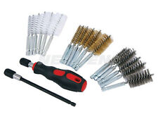 20Pc small Wire Brush Cleaning Set Kit Remove Rust Brass Hex drill bit metal new