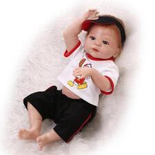 57cm Reborn Baby Lifelike Realistic Full Silicone Vinyl body Boy Reborn Doll NEW